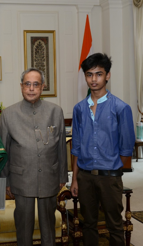 With The President of India, Pranab Mukherjee at Rashtrapati Bhawan, New Delhi, India.